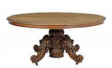 A RENAISSANCE REVIVAL PEDESTAL TABLE
