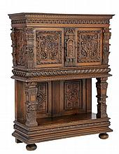 A FRENCH RENAISSANCE REVIVAL CREDENCE CABINET
