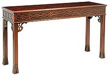 A CHINESE CHIPPENDALE STYLE CONSOLE TABLE