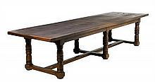 A FRENCH PROVINCIAL TRESTLE TABLE