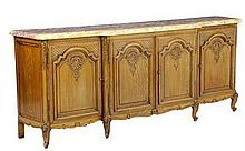 A FRENCH LOUIS XV STYLE OAK SIDEBOARD