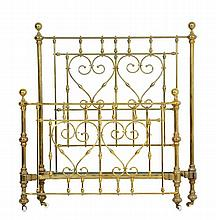 A FRENCH NEOCLASSICAL STYLE BRASS BED