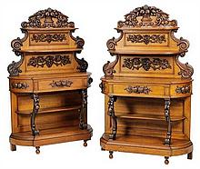 A PAIR OF RENAISSANCE REVIVAL SIDEBOARDS