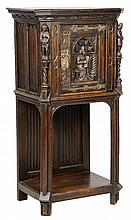 A GOTHIC REVIVAL GILT METAL MOUNTED CABINET