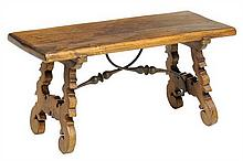 A SPANISH STYLE LOW TABLE