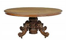 A RENAISSANCE REVIVAL PEDESTAL TABLE