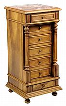 A FRENCH LOUIS PHILIPPE STYLE BEDSIDE CABINET