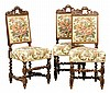 A SET OF THREE RENAISSANCE REVIVAL SIDE CHAIRS