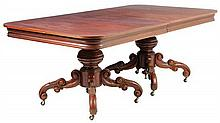 A FRENCH NEOCLASSICAL STYLE PEDESTAL DINING TABLE