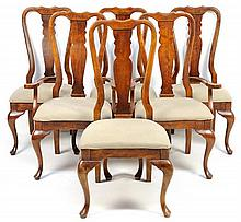 A SET OF SIX GEORGE II STYLE DINING CHAIRS