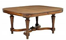 A FRENCH LOUIS XVI STYLE DINING TABLE