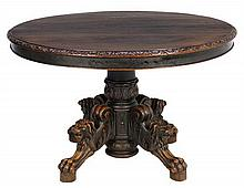 A RENAISSANCE REVIVAL DINING TABLE