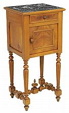 A FRENCH LOUIS XIII STYLE BEDSIDE CABINET