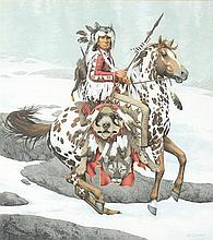 BEVERLY (Bev) DOOLITTLE, (American, born 1947), Pinto, Lithograph, 1745/13,238, H 21¾ x W 19½ inches.