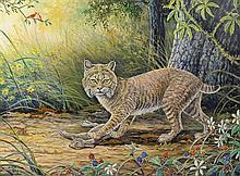 J.W. (Jerry) THRASHER, (American, Texas, born 1940), Successful Hunter, 2010, Oil on canvas, H 12 x W 16 inches.