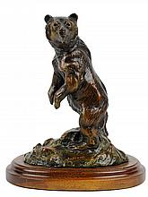 STEPHEN LEBLANC, (American, 20th century), Grizzle Bear, Bronze, 10/50, H 7½ x W 6¾ x D 4½ inches.
