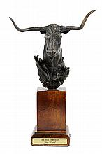 JIM WARD, (American, born after 1931), Texas Breed, Bronze, 38/100, H 11½ x W 7 x D 6 inches.