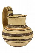 AN AMERICAN INDIAN POTTERY JUG