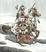 BEVERLY (Bev) DOOLITTLE, (American, born 1947), Pinot, Lithograph, 1745/13,238, H 21¾ x W 19½ inches.