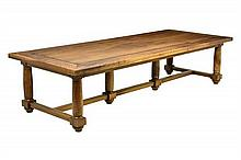 A FRENCH REFECTORY STYLE TABLE