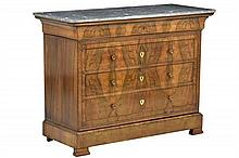 A FRENCH LOUIS PHILIPPE STYLE COMMODE