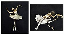 ARTIST UNKNOWN, (Russian, 20th/21st century), Ballet Dancers, Oil on canvas (two works), H 18½ x W 15½ inches (each).