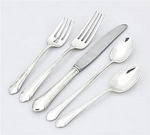 AN AMERICAN STERLING SILVER PARTIAL FLATWARE SERVICE FOR EIGHT, ALVIN CORP.