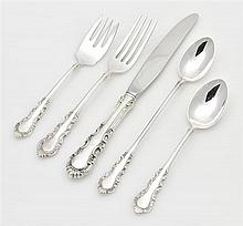 AN AMERICAN STERLING SILVER PARTIAL FLATWARE SERVICE FOR TWELVE, REED & BARTON