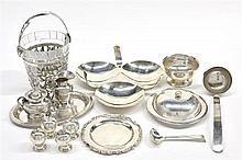 FOURTEEN MEXICAN STERLING SILVER TABLE ARTICLES