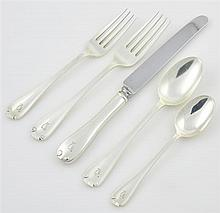 AN AMERICAN STERLING SILVER FLATWARE SERVICE FOR EIGHT, TIFFANY & CO.