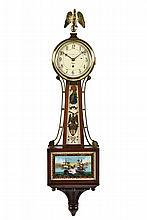 A CHELSEA MAHOGANY BANJO CLOCK, RETAILED BY SHREVE, CRUMP & LOW CO.