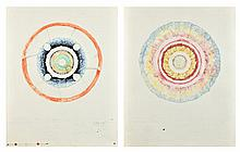JACK BOYNTON AND BOB CAMBLIN, (American, 1928-2010), Untitled, Watercolor (two works), H 29 x W 23 inches.
