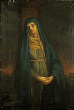 ANONYMOUS , French School 17/18 century, Mater Dolorosa, Oil on canvas, 60¼ x 42½ inches