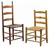 TWO AMERICAN LADDERBACK CHAIRS