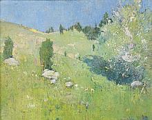 EMIL CARLSEN, (American, 1853-1932), Spring, 1915, Oil on canvas on board, 16 x 20 inches