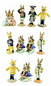 A COLLECTION OF ELEVEN ROYAL DOULTON BUNNYKINS FIGURINES IN ORIGINAL BOXES