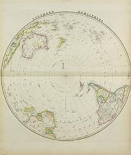 JAMES WYLD, (English, 1812-1887), Southern Hemisphere, 1843, Hand colored engraving, H 23 x W 28 inches