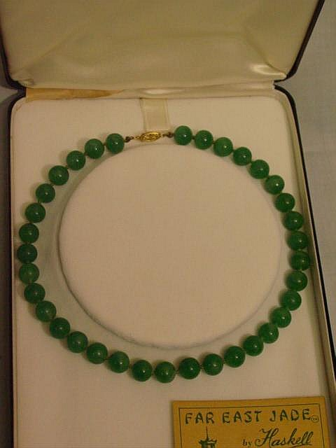 Far East Jade Necklace by Haskell