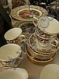Part tea service and cake stand
