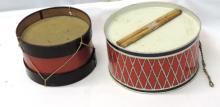 Lot of 2 Vintage Tin Drums
