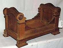 1850's Victorian Rosewood Doll Bed