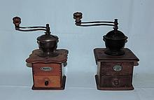 Pair of Early German Coffee Mills