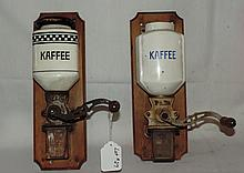 (2) German Wall Coffee Mills