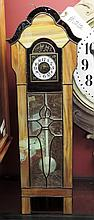 Stained Glass Miniature Grandfather Clock