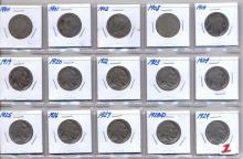 15 Buffalo Nickels assorted dates