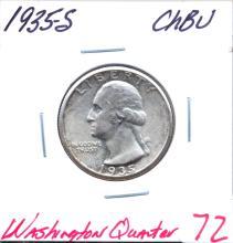 1935-S Washington Quarter Grade: CHBU