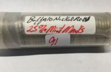Roll of 40 Buffalo Nickels 25% Mint Marks