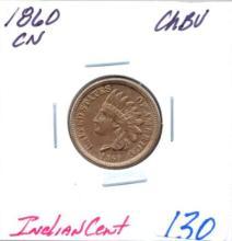 1860 Indian Cent CN  Grade:  CHBU