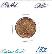 1864-L Indian Cent Grade: CHBU