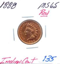 1888 Indian Cent RED  Grade: MS65